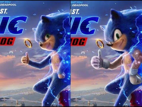 Sonic The Hedgehog 2020 Movie Trailer Old Vs New Look Comparison Youtube