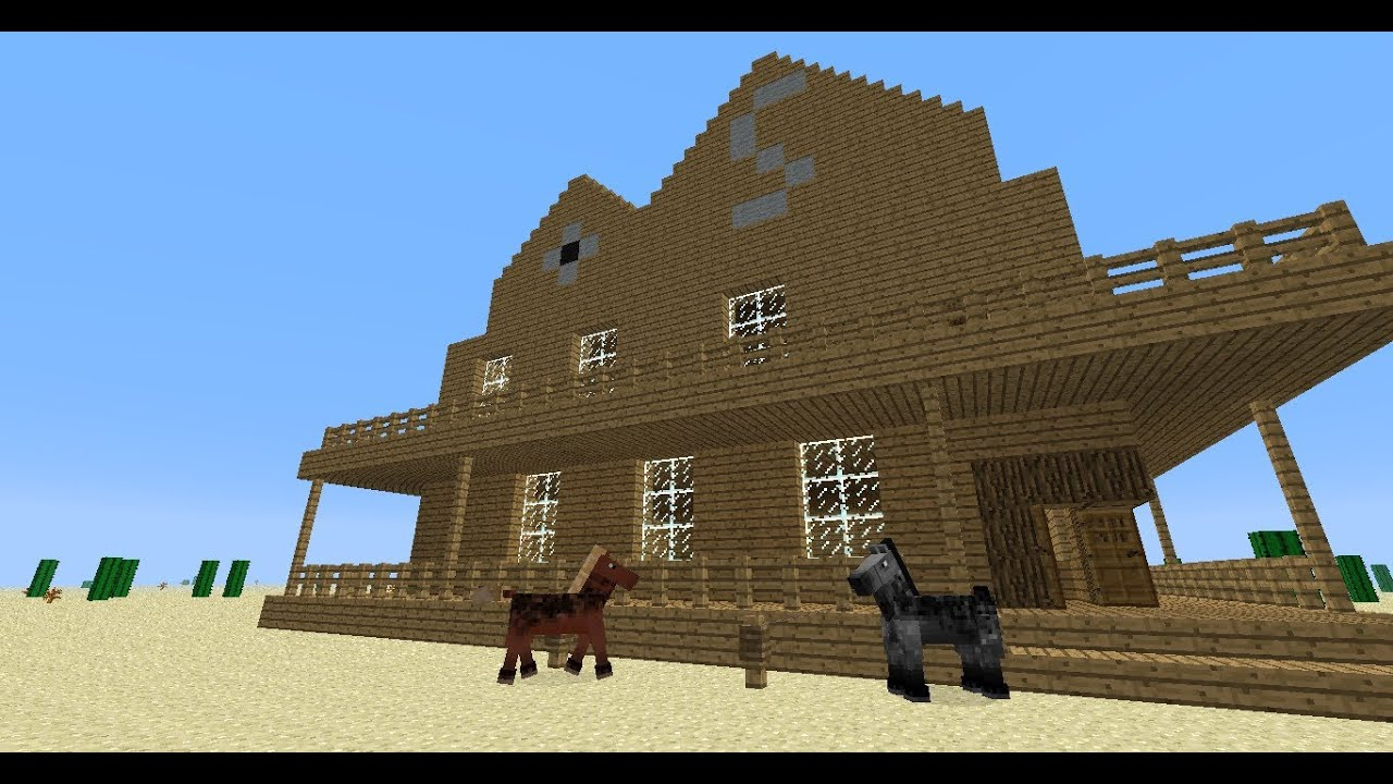 Tuto minecraft construction d 39 une ville western episode 1 le salo - Video de minecraft construction d une ville ...