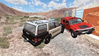 Police Chase Takedowns 4  - BeamNG.Drive Crashes