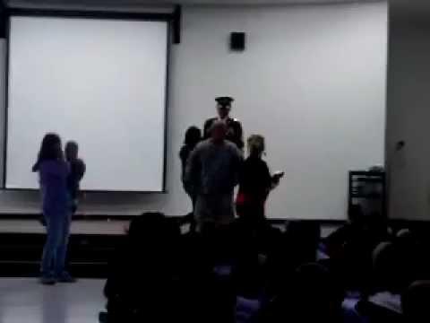 Garden City, KS Soldier Surprises Children, Part 1