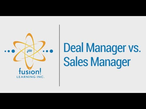 Deal Manager vs. Sales Manager