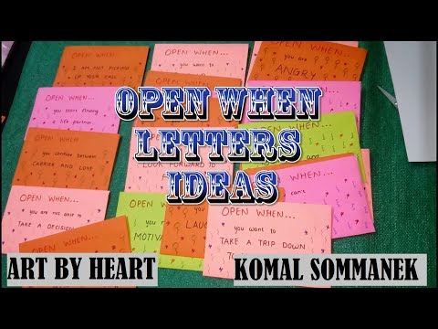 Open When Letters ideas | Best Birthday/ Valentine's day gift idea| 💝Art by Heart - Komal Sommanek