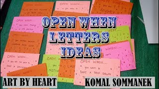 Open When Letters ideas | Best Birthday/ Valentine's day gift idea| 💝Art by Heart - Komal Sommanek