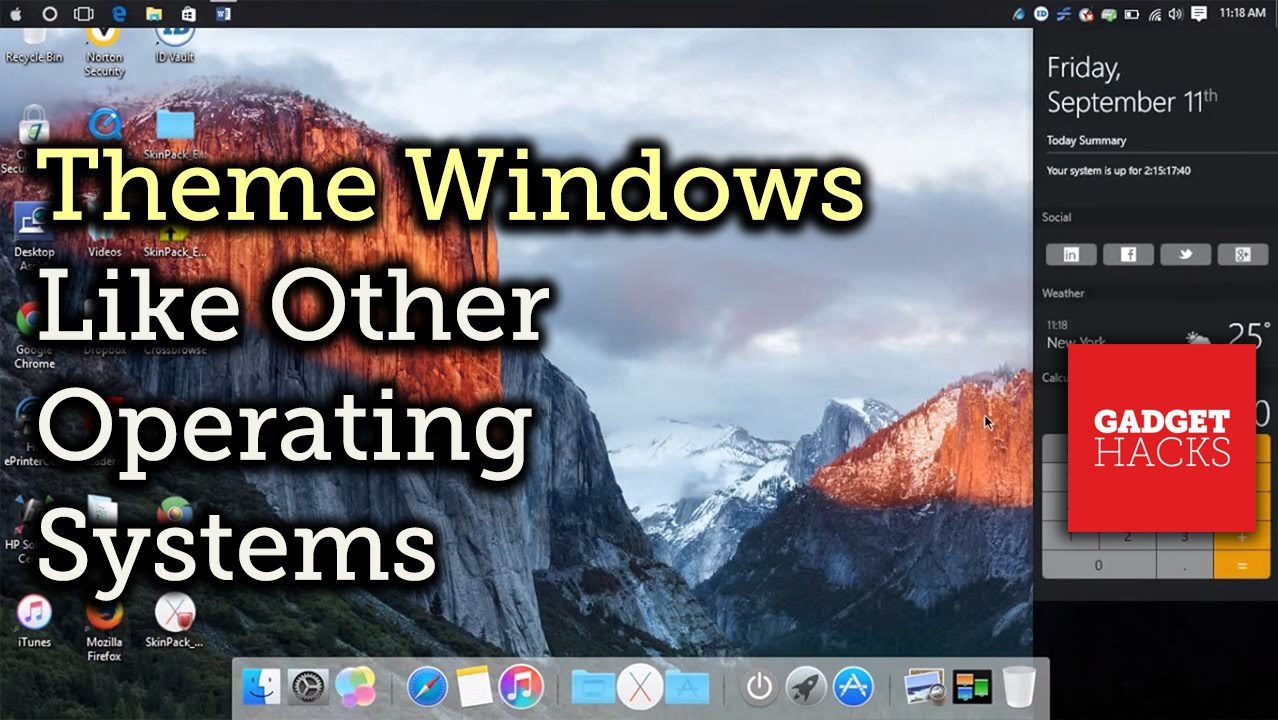 How to Theme Windows with Mac OS X, Ubuntu, & Other Skins
