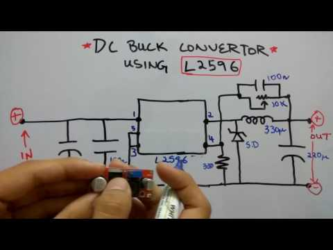 LM2596 based DC Buck convertor   Circuit Diagram and pinout