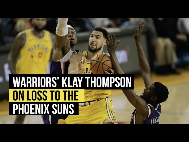 Warriors Klay Thompson on loss to the Suns