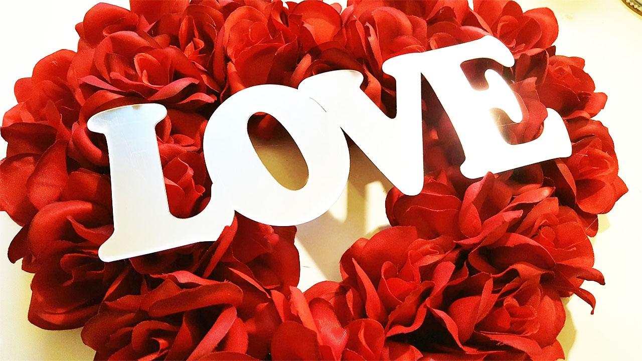 Dollar Tree Diy Easy Valentine S Day Wreath Tutorial Youtube