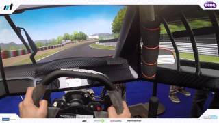 Pablo Lopez driving Heusinkveld Engineering Rig at SimRacing Expo 2015