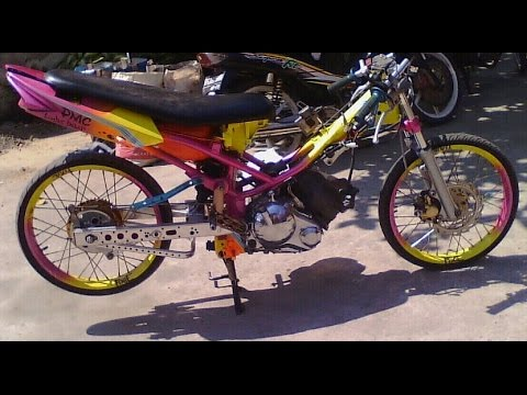 Motor Trend Modifikasi | Video Modifikasi Motor Yamaha Jupiter MX Drag Style Airbrush Jari-jari