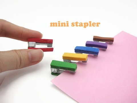 DIY Miniature Doll Mini Stationery Stapler - Very Easy!
