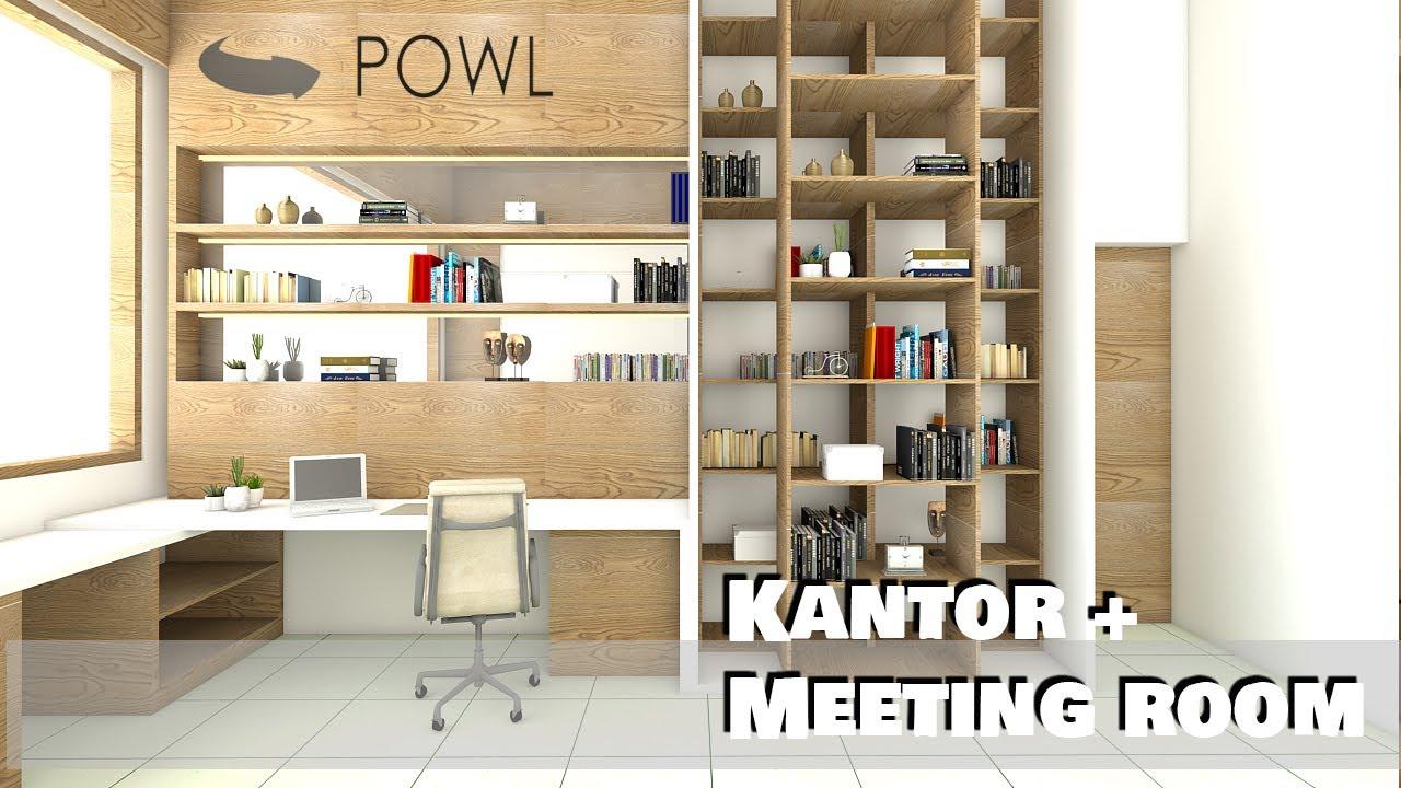Desain Interior Rumah Kantor Kecil Multifungsi Dengan Ruang Kerja Minimalis Modern Youtube Desain kantor kecil