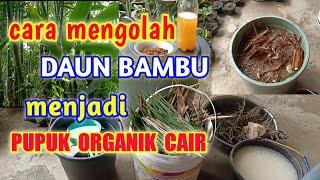 Download lagu Cara Mengolah Daun Bambu Menjadi Pupuk Organik Cair