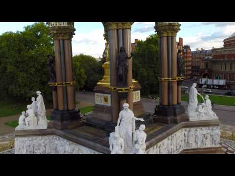 Hyde Park, The Albert Memorial & The Royal Albert Hall by AirView Media
