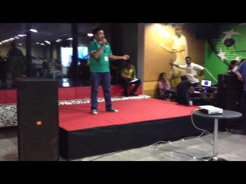 Jayesh Perfroming @ BNP Paribas's Karaoke Evening