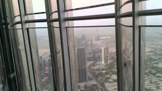 BURJ KHALIFA at the top DUBAI, open deck spacer na szczycie sierpień 2015 #ENW