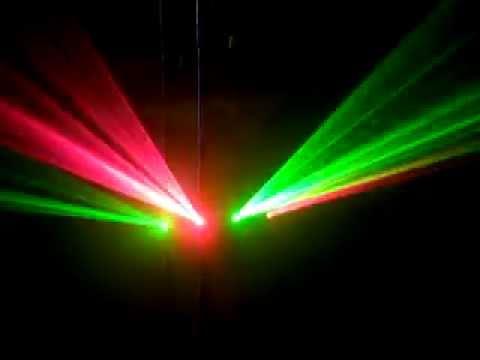 Đèn laser 4 cửa quét tia cho bar, vũ trường - Đèn sân khấu