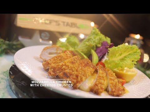 Chef's Table - Mozzarella Chicken with Cheetos Crusted