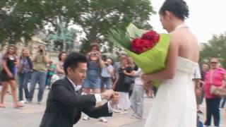 HD 高清大胆求婚片段- 香港男生典範 (聖母院廣場)