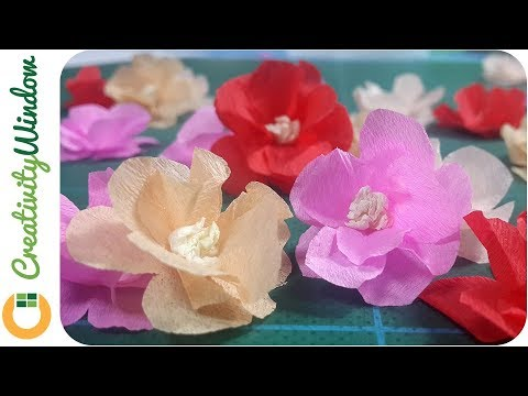 Easy Way To Make Tiny Crepe Paper Flower