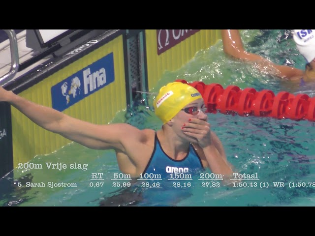 WorldCup-2017, Eindhoven - Sarah Sjostrom - 200 vrij (WR)