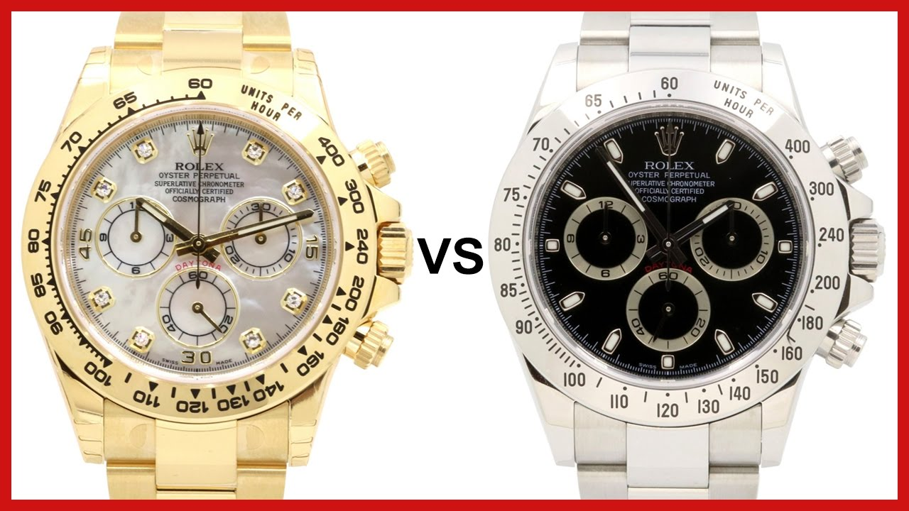 New 2016 Rolex Daytona Yellow Gold Vs Old Stainless Steel Comparison