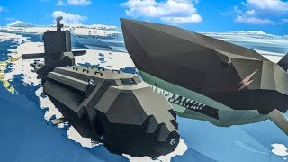 Our Submarine Was Attacked By TWO MEGALODONS and then Caught FIRE in Stormworks