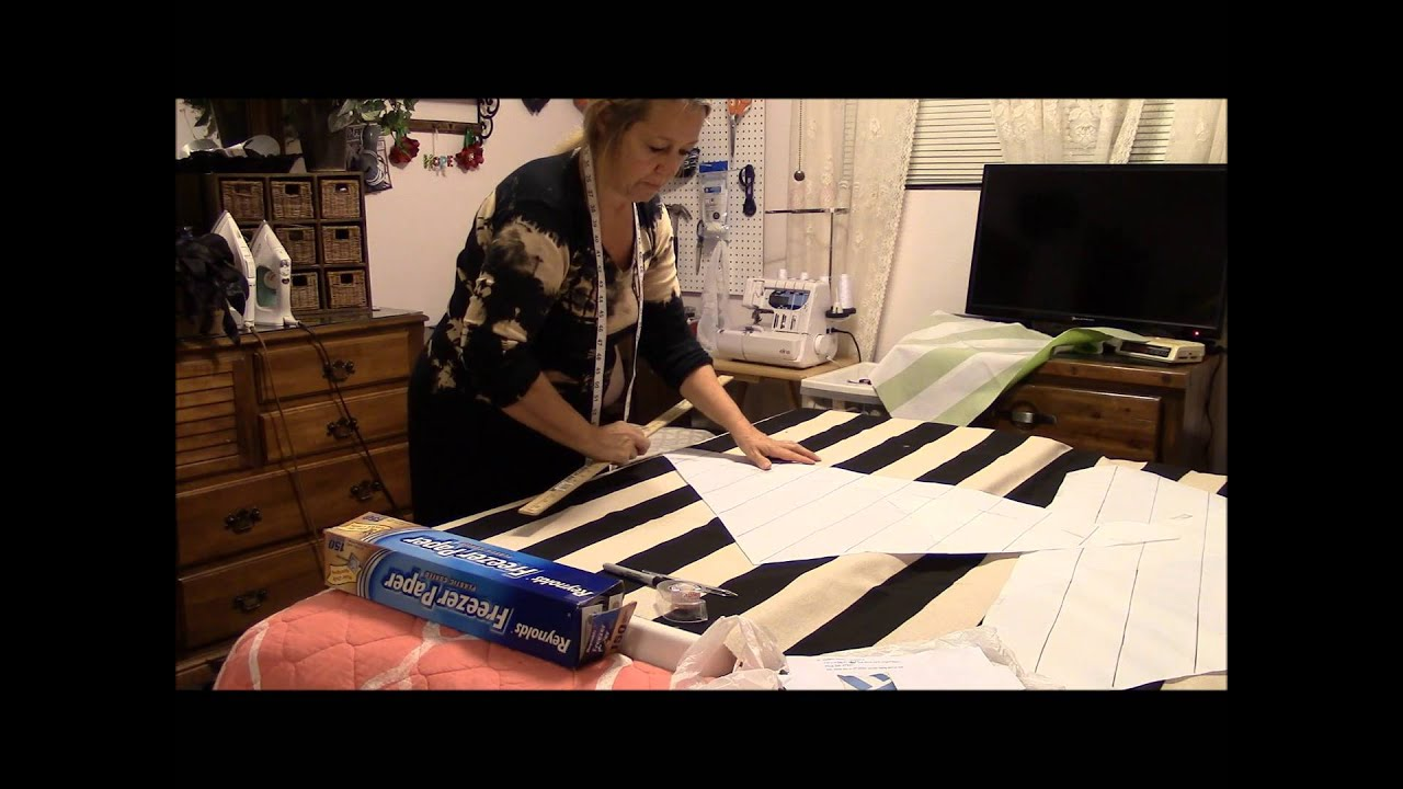 make your own designer pillow tutorial starting with the pattern