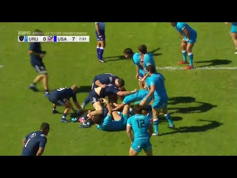 USA's Mike Te'o scores incredible solo try - Americas Rugby Championship