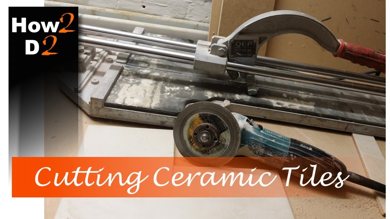 Cutting ceramic tile How to cut wall and floor tiles with angle     Cutting ceramic tile How to cut wall and floor tiles with angle grinder and  hand cutter