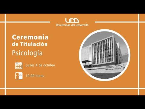 Ceremonia de Titulación   Psicología   Sede Santiago