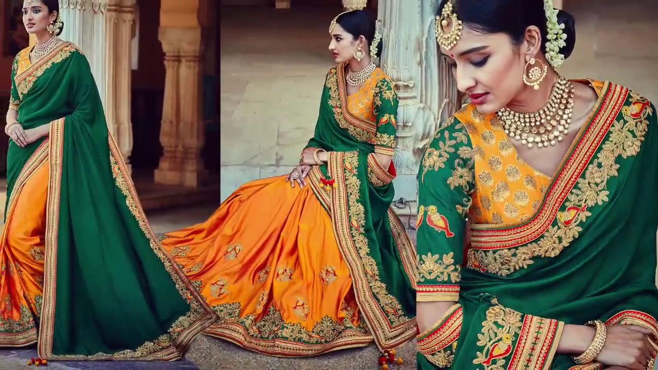 407d07e4b48 Latest Party-Wear Sarees Collection  Latest Designer Party-Wear Saree  Blouse Designs   Indian Sarees