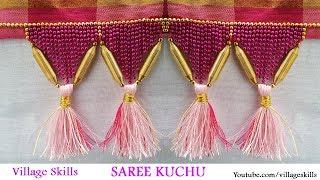 How To Make Saree Kuchu L DIY Silk Thread Saree Tassels Jewellery Model  L Saree Kuchu Design # 31