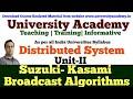L8: Distributed Mutual Exclusion | Token based algorithms|Suzuki Kasami Broadcast Algorithm Example