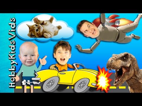 Car Crash Fail + Cloud Kitties Extras! 6 Bloopers Behind the Scenes HobbyKidsTV HobbyKidsVids