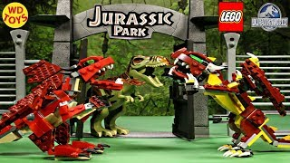 NEW LEGO CREATOR MYTHICAL CREATURES DRAGON VS T-REX JURASSIC WORLD SPEED BUILD UNBOXING 31073