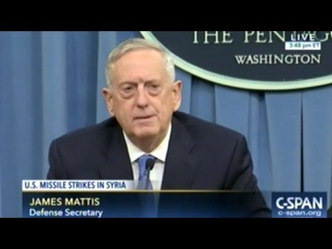 "Secretary Of Defense ""NO DOUBT SYRIAN REGIME IS RESPONSIBLE FOR THE ATTACK!"""