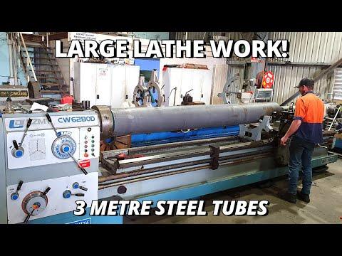 Machining & Boring BIG Steel Tubes | Large Lathe Work