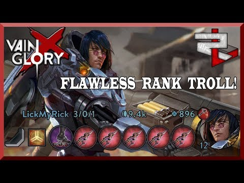 Flawless All Poison Shive Baron Troll In Rank! Vainglory 5v5