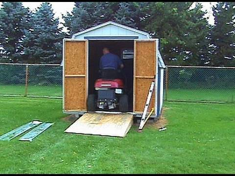 Storage Shed Ramps >> Building a Ramp for the Shed PART 2 - YouTube