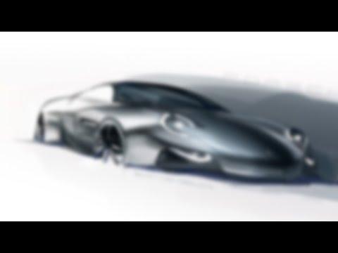 Porsche Design Sketch in Photoshop - Bart de Graaff