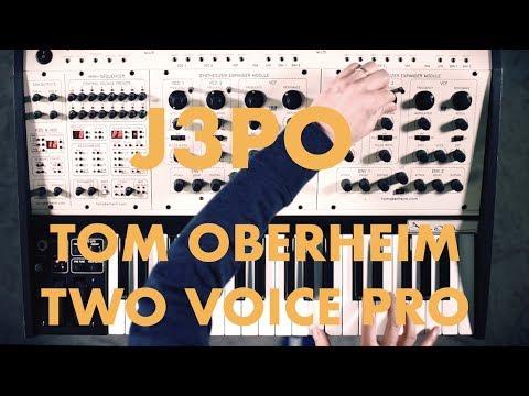 J3PO - Tom Oberheim TWO VOICE PRO synth demo NO TALKING
