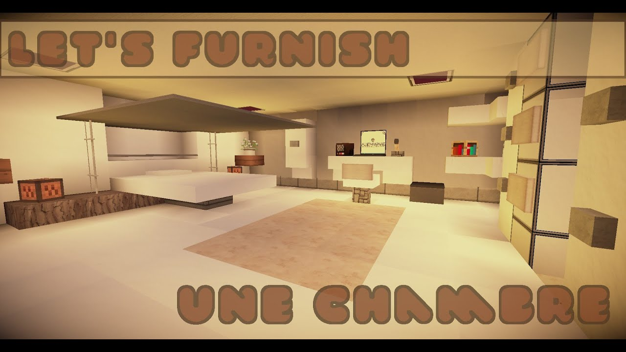 Minecraft let 39 s furnish tuto chambre bedroom youtube - Chambre game but ...