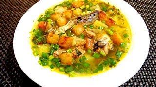 Рыбный супчик с гренками за 20 минут, из консервы. Быстро, сытно, вкусно!!!