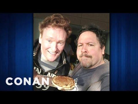Jon Favreau Flipped Pancakes With Conan & Harrison Ford - CONAN on TBS