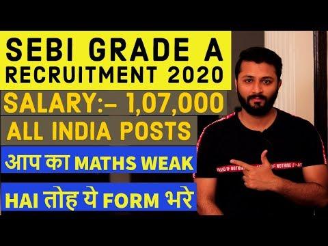 SEBI Grade A Recruitment 2020 | Highest Paid Government Job | 147 Assistant Manager Post