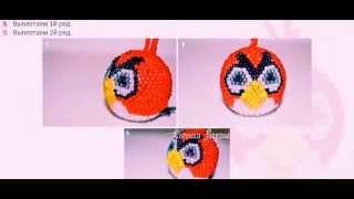 Бисероплетение Животные из бисера птица из Andry Birds мастер класс видео урок