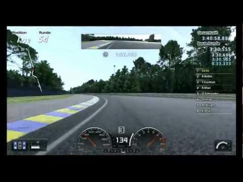 Lets Play Gran Turismo 5 / 24h Le Mans - Part 6 / unterwegs auf abtrocknender Strecke