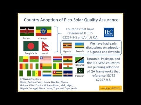 Lighting Global Quality Assurance Adoption in Kenya, Tanzania, and Ethiopia - 11 Feb 2016