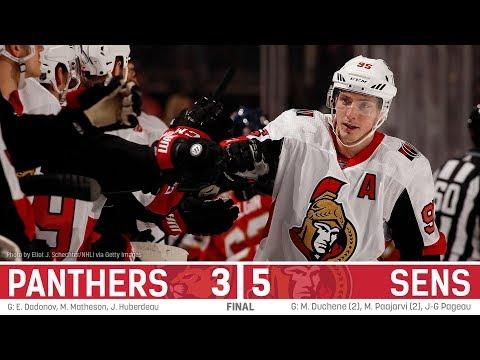 Sens vs. Panthers - Players post-game
