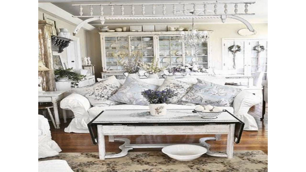 shabby chic wohnzimmer ideen youtube. Black Bedroom Furniture Sets. Home Design Ideas